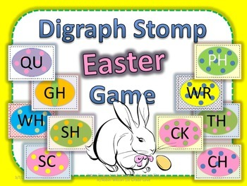 Digraph Easter Stomp Game, Flash Cards, Posters