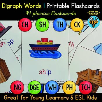Digraph Flash Cards