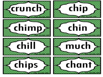 Consonant Digraph Flashcards