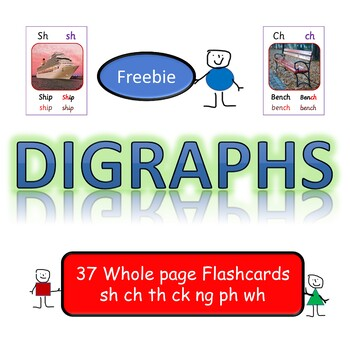 Digraph Flashcards Wall Displays