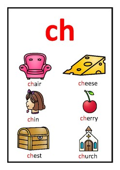 Digraph Flashcards and Posters