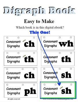 Digraph Flip Book for Ending Blend SH -
