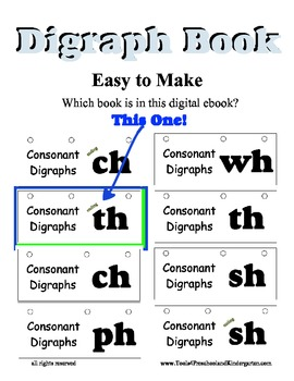 Digraph Flip Book for Ending Blend TH - Reading Literacy C