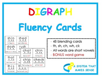Digraph Cards