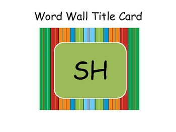 Digraph Fun CH, PH, SH, TH, and WH