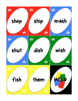 Digraph Fun- games and activities  (ch, sh, th, wh, & ck)