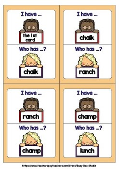 Digraph Game: I have, who has (CH)