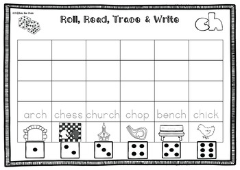 Digraph Game: Roll, Read, Trace and Write