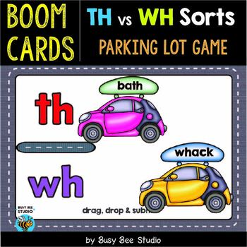 Digraph Game | TH vs WH | Boom Cards