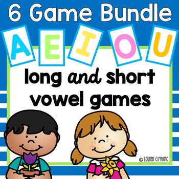 Long and Short Vowel Games Bundle {A, E, I, O, U}