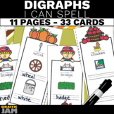 Fall Digraph Activity   I Can Spell Digraphs   Digraph Cen