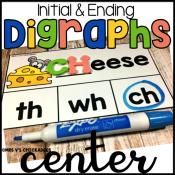Digraph Hands on Dry Erase Board Center: Initial & Ending Digraphs