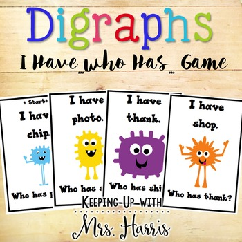 Digraphs - I Have, Who Has Game