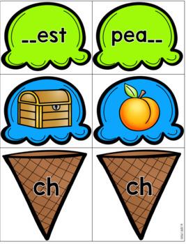 Digraph Ice Cream Cone Sort Ch Sh Th Wh
