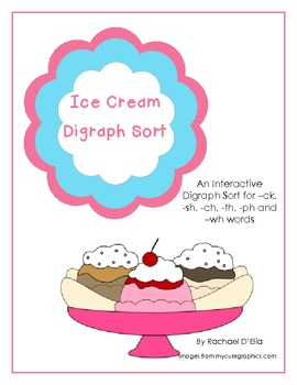 Digraph Ice Cream Cones! {A Sorting Center for Words with Digraphs}