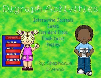 Digraph Interventions (Activities, Games and Interactive Journals) #easterbunny