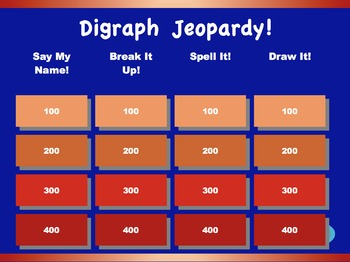 Digraph Jeopardy Games! {7 games}