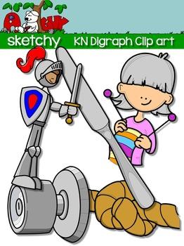 Digraphs KN / Word Families Clip art