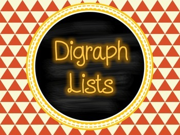 Digraph Lists {pages of ch, sh, th, wh and ck words} FREEBIE!