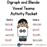 Digraph Long and Short OO Vowel Teams Activity Packet and