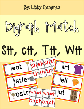Digraph Match - SH, TH, CH, WH