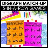Digraph Match-Up - 3 in a Row Games - Kindergarten Literac