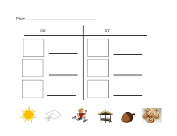 Digraph Match Worksheets
