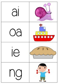 Digraph Memory/Match up Game