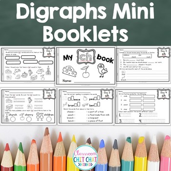 Digraph Practice Mini Booklets - 5 Days of Short Activities
