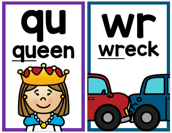 Digraph Mini Posters or Flashcards