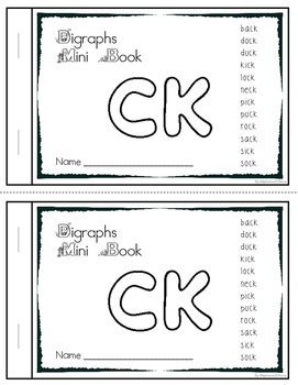 Digraph Mini Scramble Books