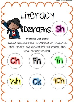 Digraph Missing Letters Activity Pack Reading and Writing