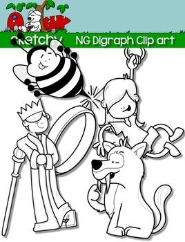 Digraphs NG / Word Families Clip art
