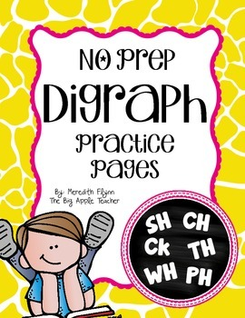 Digraph NO PREP Practice Pages