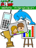 Digraphs PH / Word Families Clip art