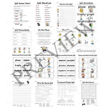 Digraph PH Consonant Sound Activity Packet and Worksheets