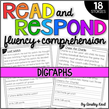Phonics Reading Passages for Fluency and Comprehension - Digraphs
