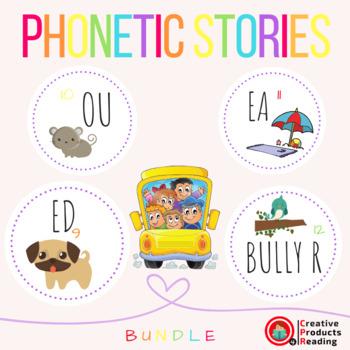 CPR Phonetic Stories (Suffix Ed, Ou, Ea, R Blends) Bundle 3