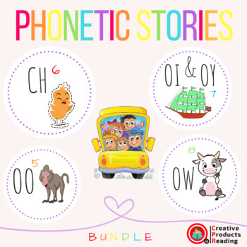 CPR Phonetic Stories (Oo, Ch, Oi/Oy, Ow) Bundle 2