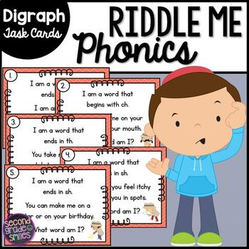 Digraph Phonics Riddle Task Cards