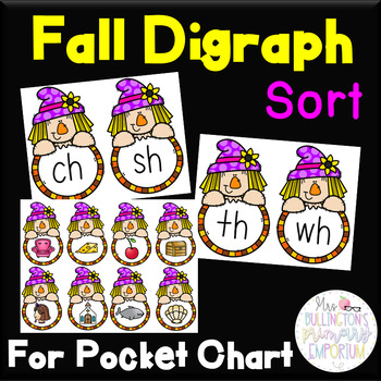 Digraph Picture Sort (Scarecrows)