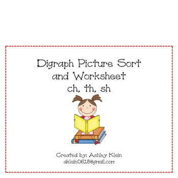 Th Digraph Picture Sort Teaching Resources Teachers Pay Teachers