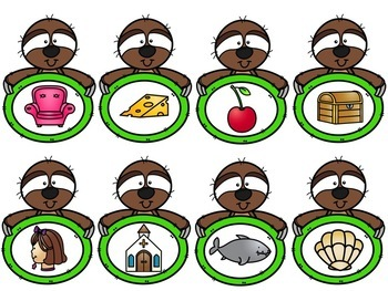 Digraph Picture Sort (Sloths)