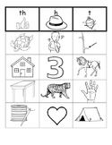 Digraph Picture Sort {th, h, t}