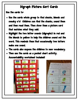 Digraph Picture Sorts/ Pocket Chart Center
