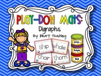 Digraph Play-Doh Mats