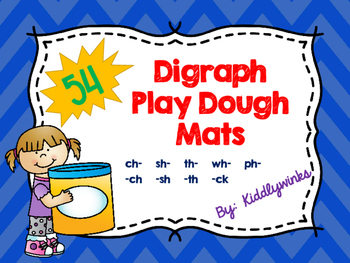Digraph Play Dough Mats