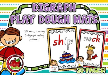Digraph Play Dough Mats - Queensland font