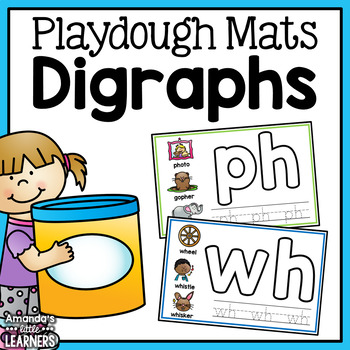 Digraph Playdough Mats - Free