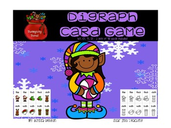 Digraph Playing Cards {Christmas Themed}